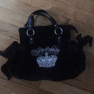 Juicy Couture black velvet handbag